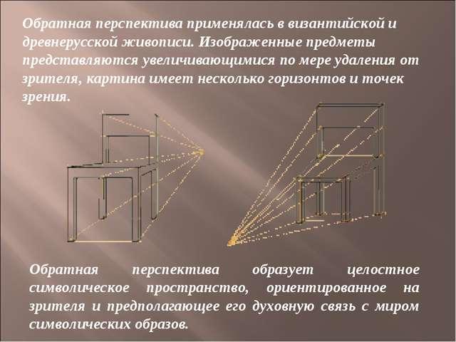 Обратная перспектива образует целостное символическое пространство, ориентиро...