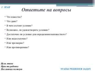 Использованная литература Пойа Д. Как решать задачу. – Москва: Государственно