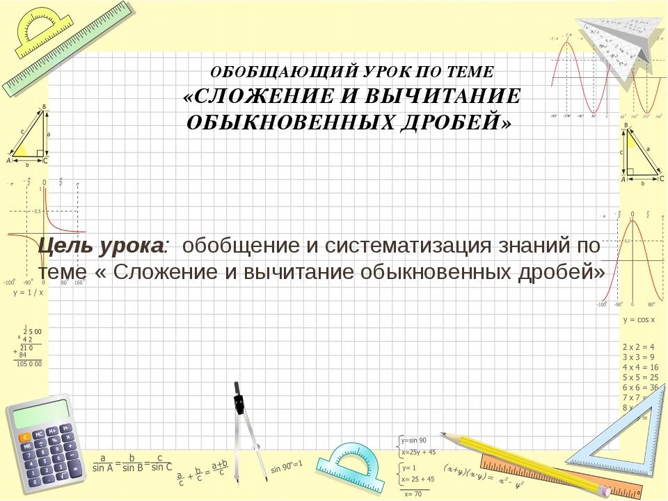 Цель урока: обобщение и систематизация знаний по теме « Сложение и вычитание...