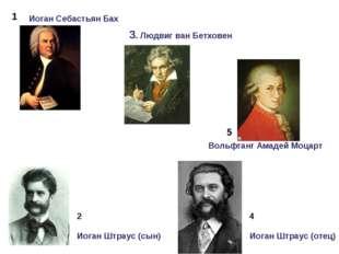 1 2 3. Людвиг ван Бетховен 4 5 Иоган Себастьян Бах Вольфганг Амадей Моцарт Ио