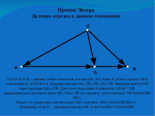 Прямая Эйлера Прямая Эйлера – прямая, которой принадлежат ортоцентр (точка п