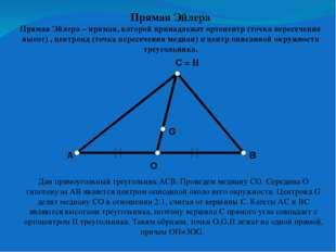 G1 P Прямая Эйлера Теорема. Медианы треугольника АВС пересекаются в одной точ