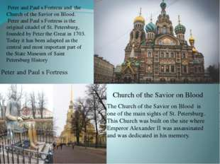Peter and Paul s Fortress Church of the Savior on Blood Peter and Paul s Fort
