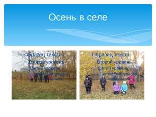 Осень в селе