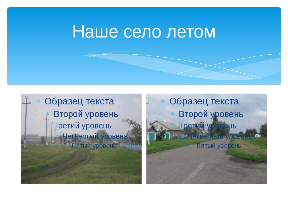 Наше село летом