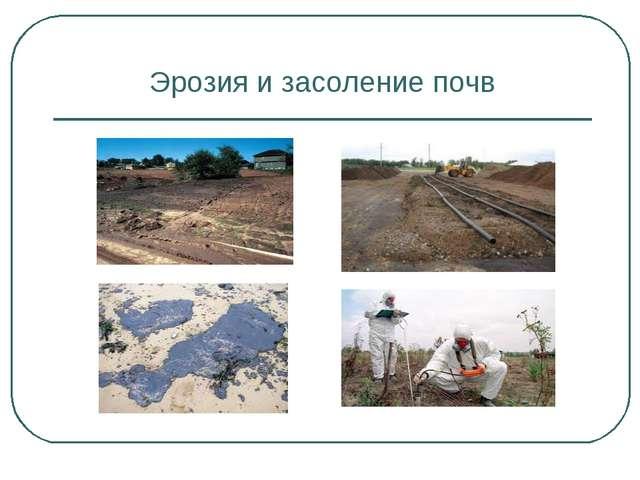 Эрозия и засоление почв