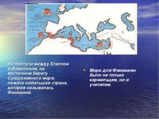 На полпути между Египтом и Вавилоном, на восточном берегу Средиземного моря,