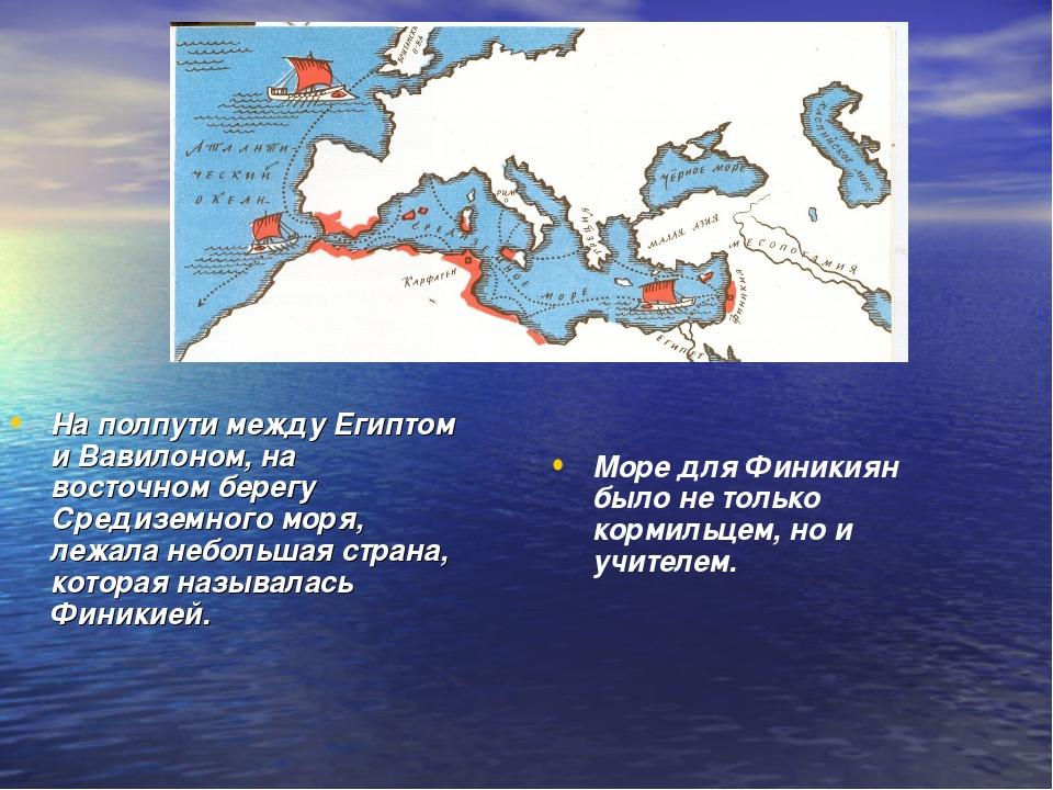 На полпути между Египтом и Вавилоном, на восточном берегу Средиземного моря,...