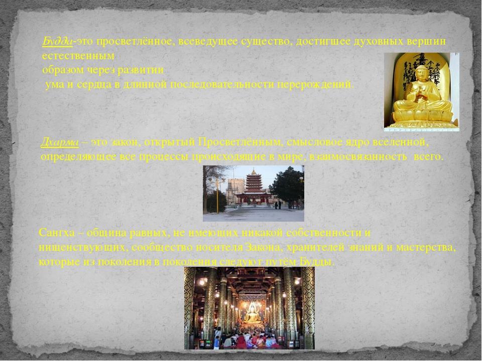 Будда-это просветлённое, всеведущее существо, достигшее духовных вершин естес...