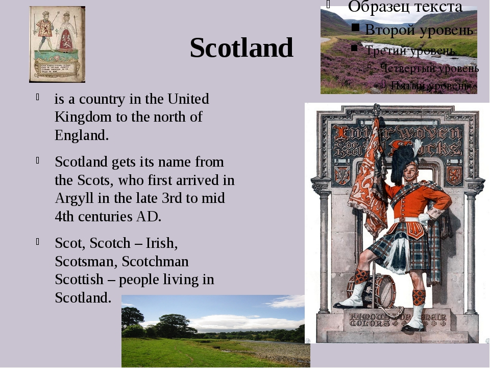 Scotland is a country in the United Kingdom to the north of England. Scotland...
