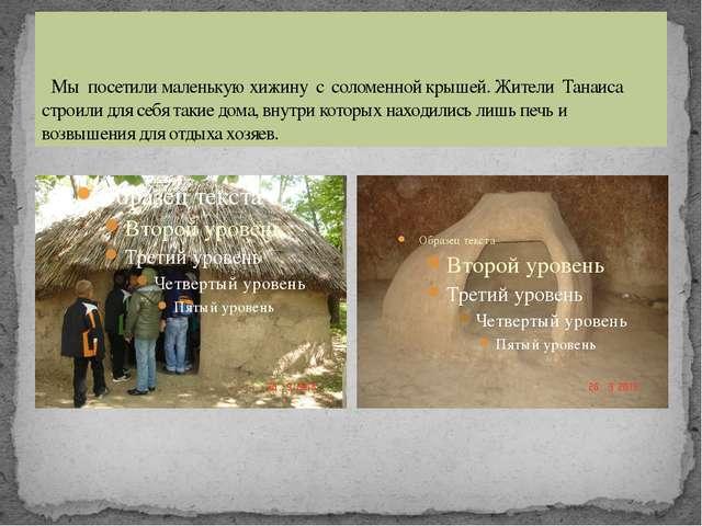Мы посетили маленькую хижину с соломенной крышей. Жители Танаиса строили дл...