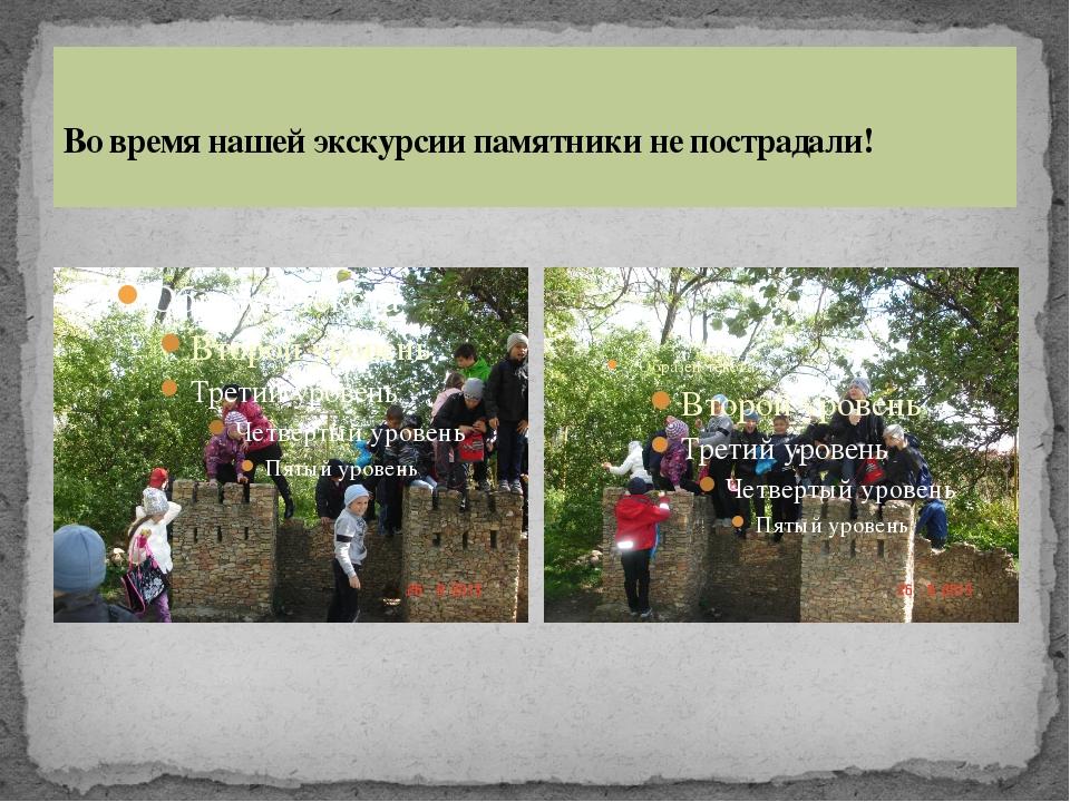 Во время нашей экскурсии памятники не пострадали!