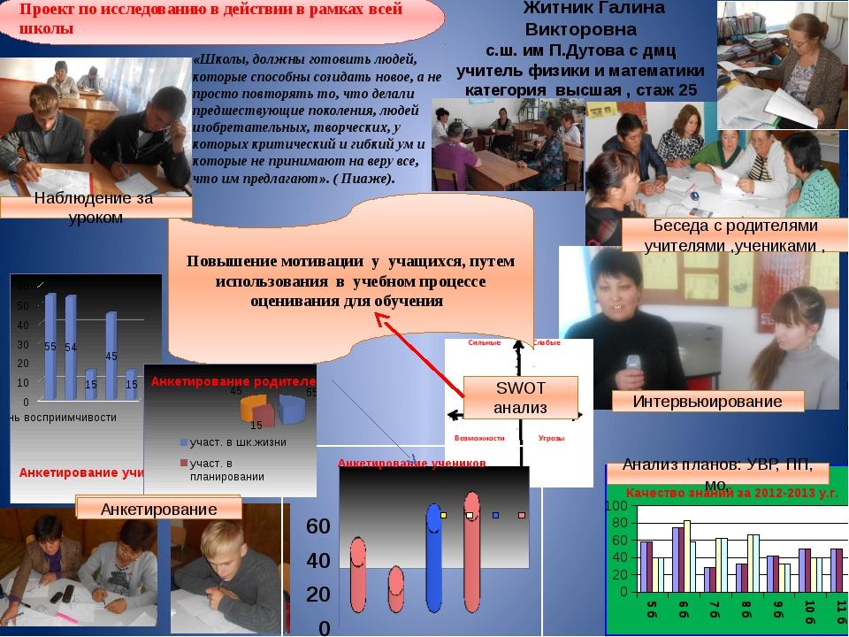 Повышение мотивации у учащихся, путем использования в учебном процессе оценив...