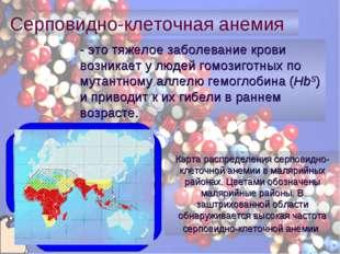 - это тяжелое заболевание крови возникает у людей гомозиготных по мутантному