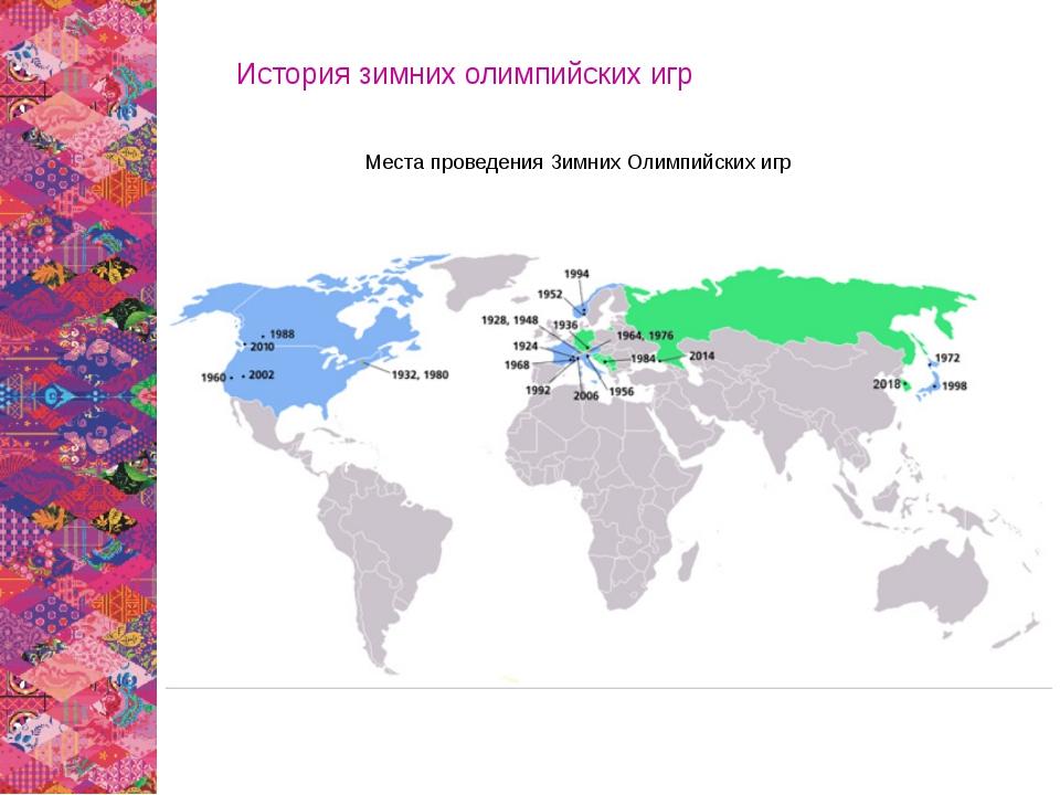 Места проведения Зимних Олимпийских игр История зимних олимпийских игр