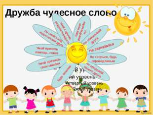 Дружба чудесное слово Не зазнавайся Не ссорься, будь справедливым Не предавай