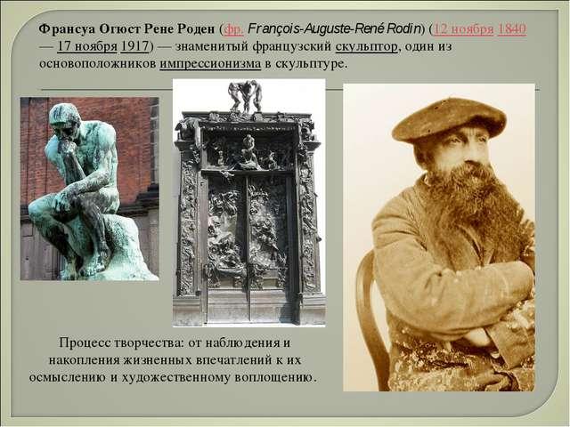Франсуа Огюст Рене Роден (фр.François-Auguste-René Rodin) (12 ноября 1840 —...