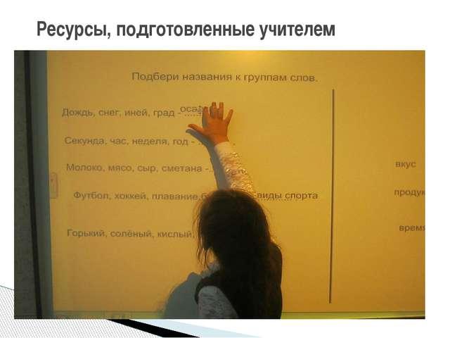 Ресурсы, подготовленные учителем