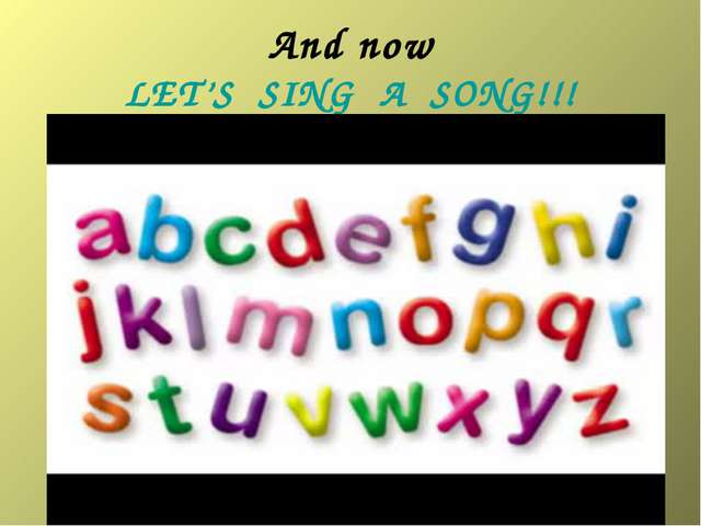 And now LET'S SING A SONG!!!