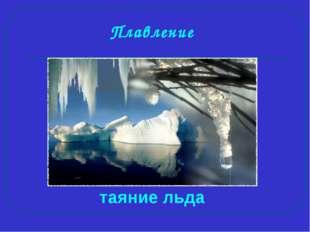 Плавление таяние льда