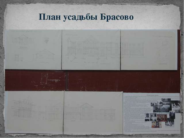 План усадьбы Брасово