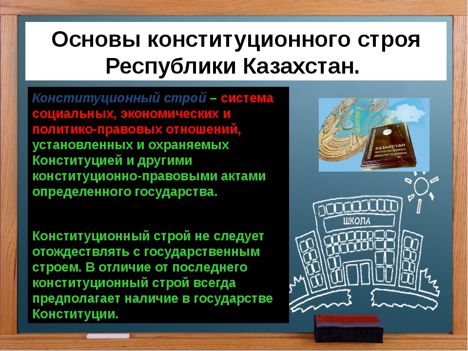 Основы конституционного строя Республики Казахстан. Конституционный строй – с...