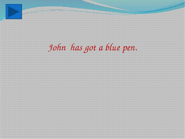 John has got a blue pen.