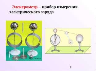 Электрометр – прибор измерения электрического заряда