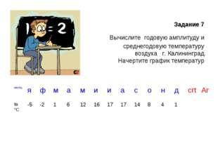 Задание 7 Вычислите годовую амплитуду и среднегодовую температуру воздуха г.