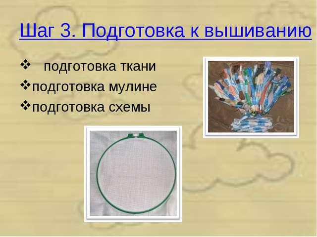 Шаг 3. Подготовка к вышиванию подготовка ткани подготовка мулине подготовка с...