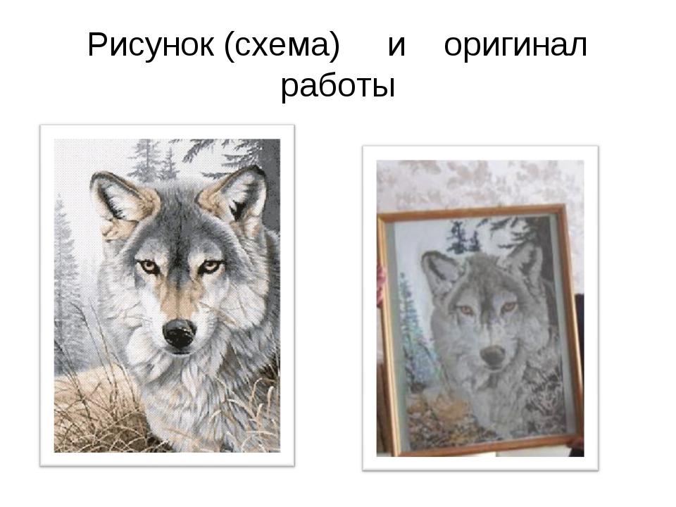 Рисунок (схема) и оригинал работы