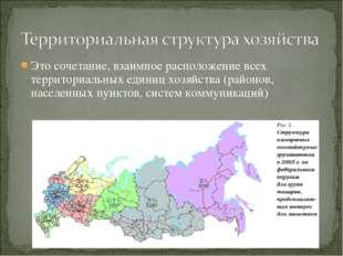 Это сочетание, взаимное расположение всех территориальных единиц хозяйства (р
