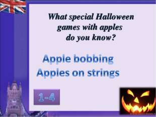 What special Halloween games with apples do you know?