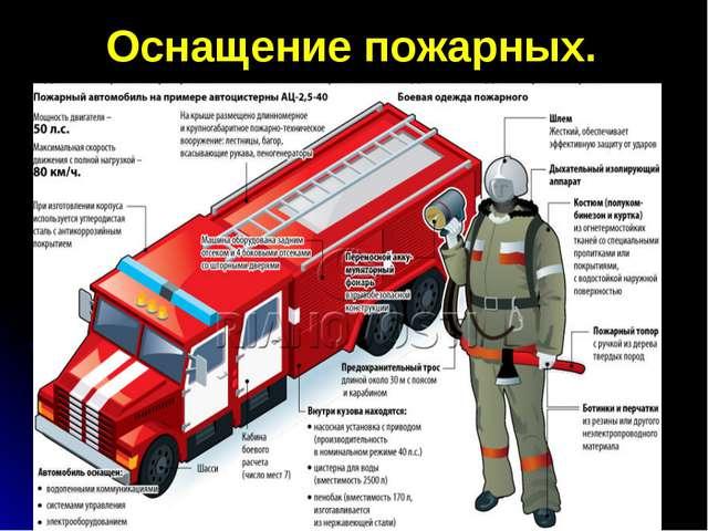 Оснащение пожарных.