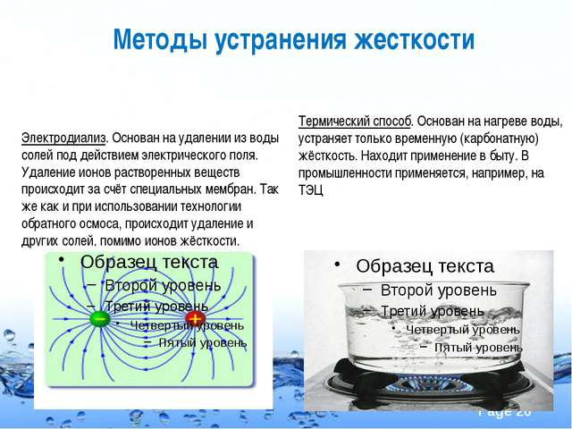 Методы устранения жесткости Электродиализ. Основан на удалении из воды солей...