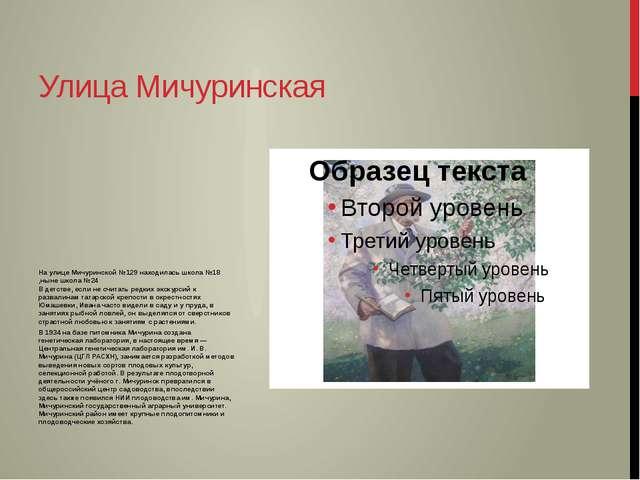 На улице Мичуринской №129 находилась школа №18 ,ныне школа №24 В детстве, есл...