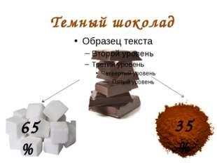 Темный шоколад 35 % 65 %
