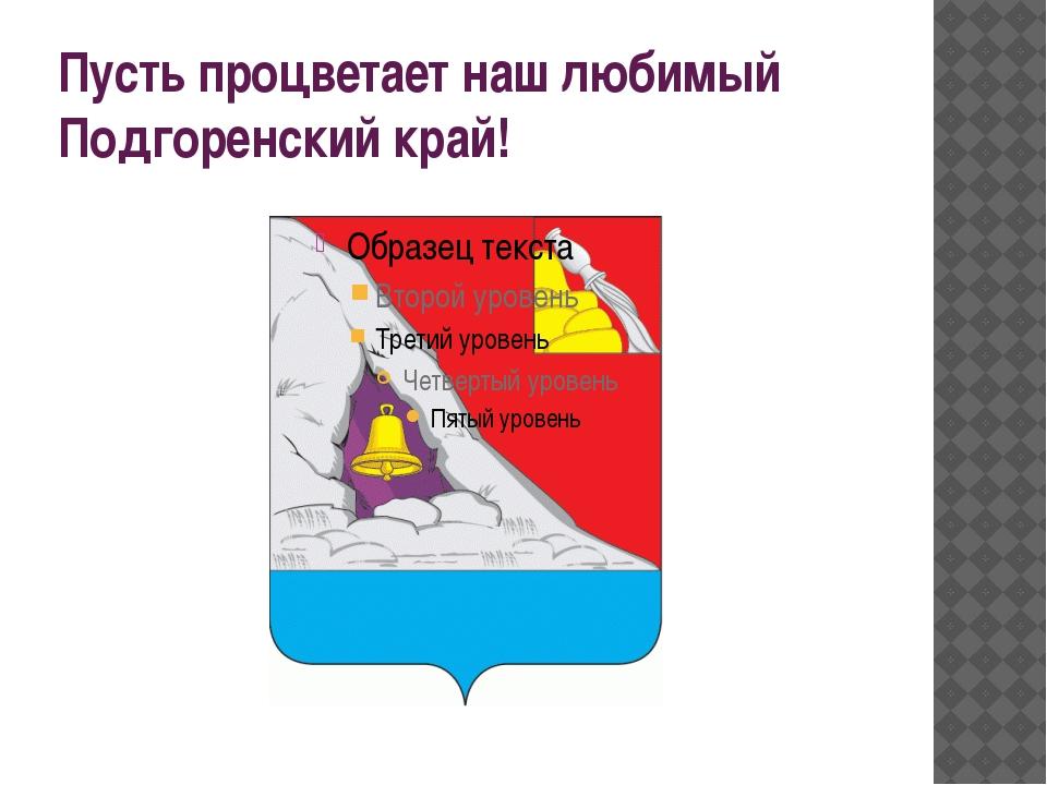 Пусть процветает наш любимый Подгоренский край!