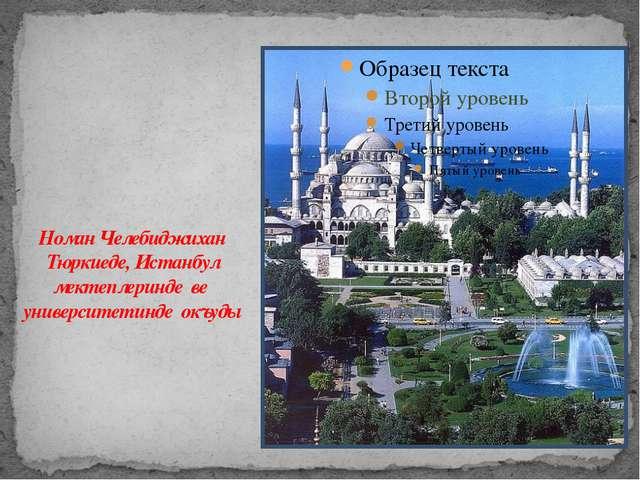 Номан Челебиджихан Тюркиеде, Истанбул мектеплеринде ве университетинде окъуды