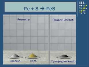 Fe + S  FeS