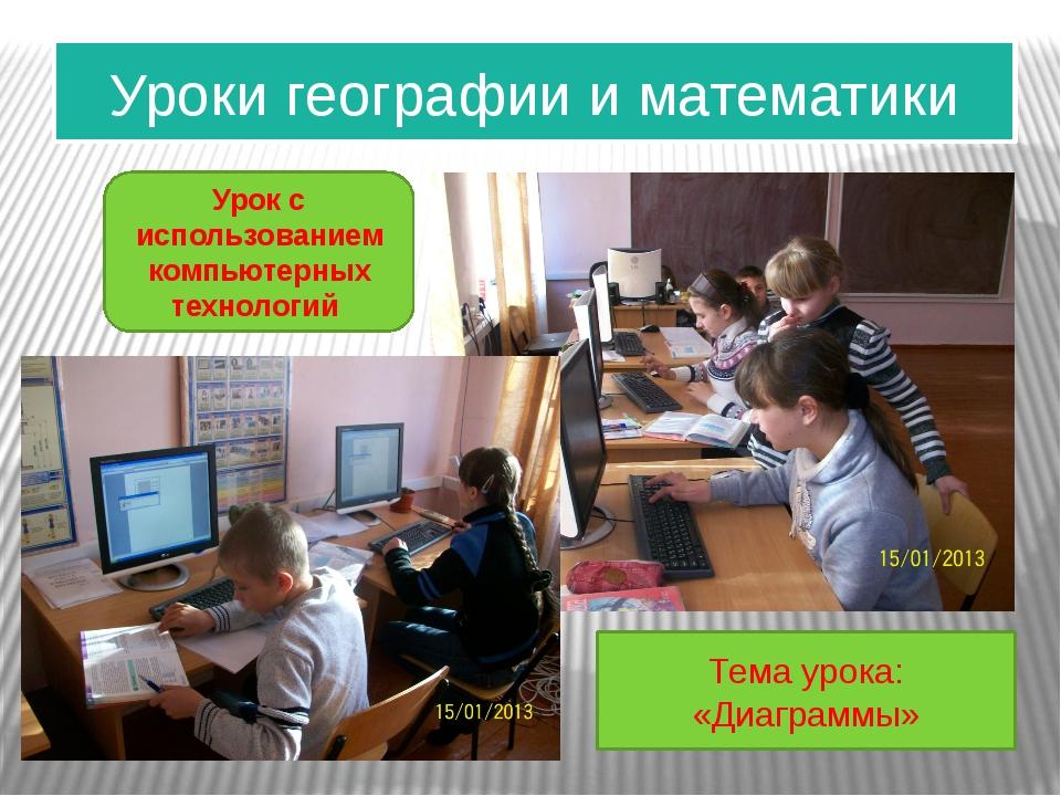 Уроки географии и математики Урок с использованием компьютерных технологий Те...