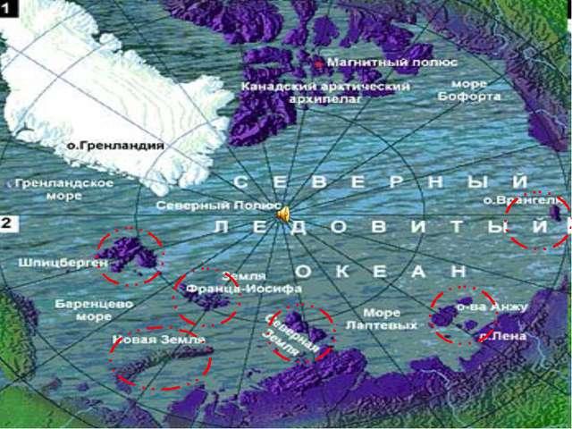 В эту зону входят Земля Франца-Иосифа, Новая Земля, Северная Земля, острова А...