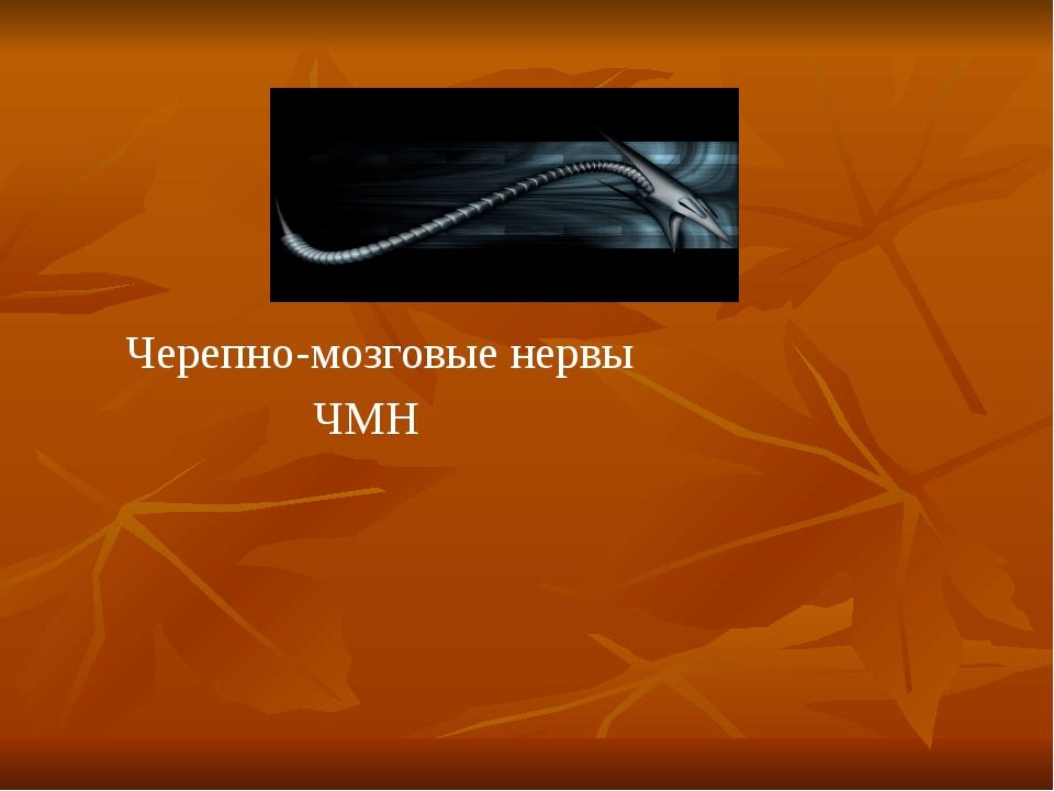 Черепно-мозговые нервы ЧМН
