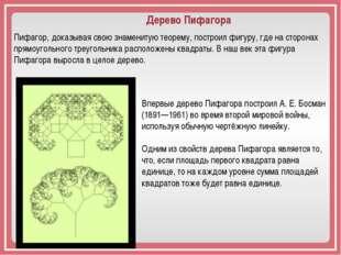 Пифагор, доказывая свою знаменитую теорему, построил фигуру, где на сторонах