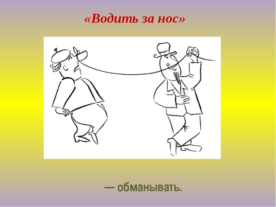 «Водить за нос» — обманывать.