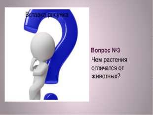 Вопрос №3 Чем растения отличатся от животных?
