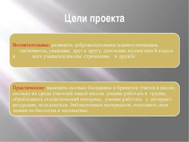 Цели проекта