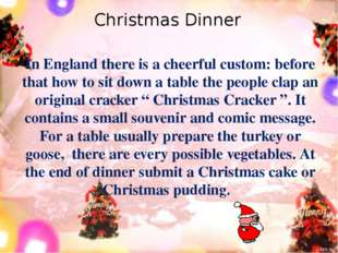 In England there is a cheerful custom: before that how to sit down a table th