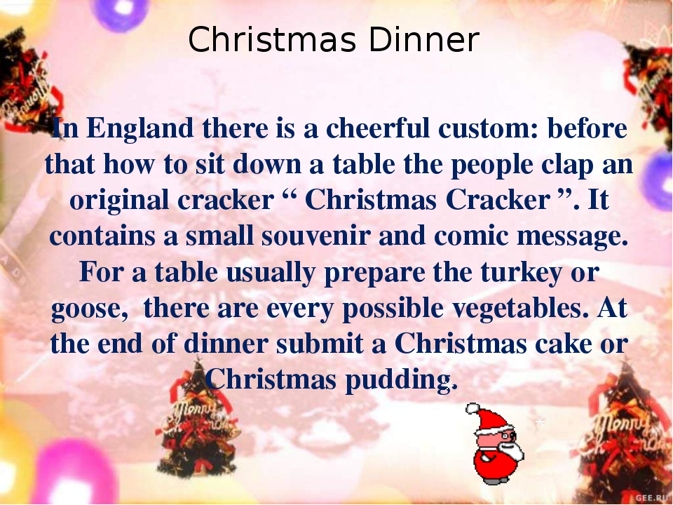 In England there is a cheerful custom: before that how to sit down a table th...