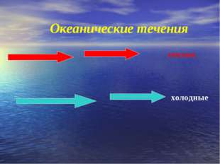 Океанические течения теплые холодные